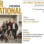Scheidle spielt: ACTING WORKSHOP SHOWCASE - sechs Szenen in English